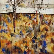 Winter Trees  by Egon Schiele