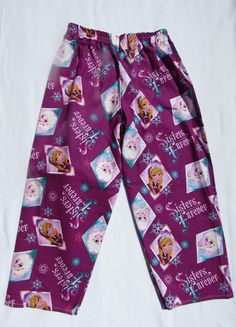 Sisters Forever Purple Frozen pajama cotton pants by livenlovecreations on Etsy Cotton Pyjamas, Cotton Pants, Sisters Forever, Pajama Bottoms, Boy Or Girl, Frozen, Royalty, Trending Outfits, Purple