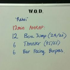 WOD - June 27, 2012 5 rounds plus box Prescribed (65 pounds)