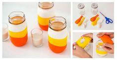 DIY: Proste w wykonaniu świeczniki, których wykonanie kosztuje grosze #ŚWIECZNIK #SŁOIKI #DIY #ZRÓB TO SAMA #KROK PO KROKU