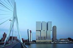 De Rotterdam, appartementen/ kantoren/ hotel. Ontwerp van Rem Koolhaas, opgevat als 'verticale stad'.