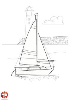 Coloriage d un tr s beau voilier coloriage bateau - Coloriage voilier ...