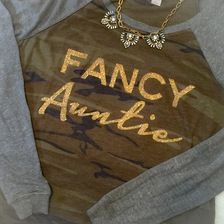 Auntie Sparkly TShirt, Fancy Apparel for Any Occasion, Birthdays , Baby Shower, Special Aunt Gifts