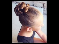 How to : Flip Through Bun | Brown Haired Bliss - YouTube