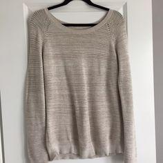 Tan Open Knit Sweater Minor wear. LOFT Sweaters Crew & Scoop Necks