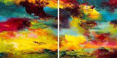 "Saatchi Art Artist Rikka Ayasaki; Painting, ""Passions 8788(Dyptich 60x30cm)"" #art"