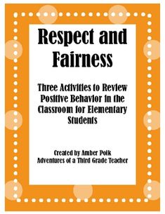 Three Activities to review and discuss respect, self-respect, fairness and friendship. Activities Include:Respect Comic StripThe Fairly Fab...