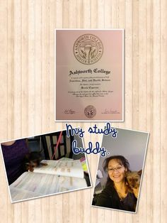 Congratulations to Sonia and her Study Buddy for graduating from the Ashworth College Online Nutrition Course!  http://www.ashworthcollege.edu/career-diplomas/nutrition-diet-health-science