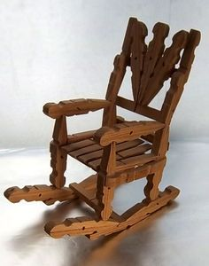Clothes Pin Rocking Chair Vintage Tramp by ChrysopoeiaTreasures