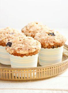 Candy's: Áfonyás-fahéjas morzsás muffin