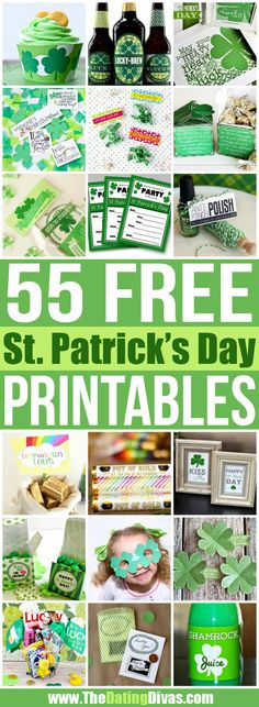 So many cute ideas in this St. Patrick's Day round-up!!  And you can't beat FREE! www.TheDatingDivas.com