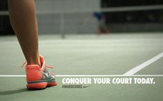 Conquer your court today. #tennis