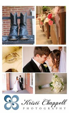 Kristi Chappell Photography | Blog Southern wedding + boots + bridal bouquet + white roses bridal bouquet + fun wedding photos + loving wedding photos + wedding rings + church pew wedding ideas