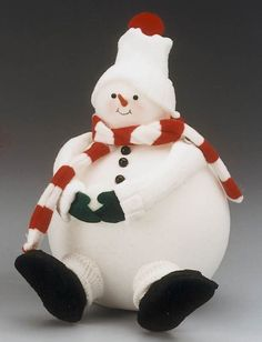 diy  Super Sized Snowman..Repurpose socks, stockings & sweaters to make these snowman crafts