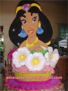 piñata entamborada princesa jazmin Baby Shower, Maya, Diy And Crafts, Mickey Mouse, Disney Princess, Disney Characters, Birthday, Party, Etsy
