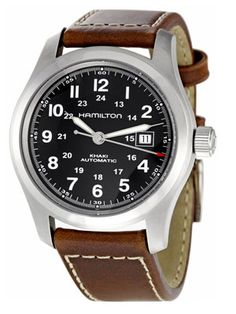 """Hamilton: The Khaki Field    Field watches are hot these days, but this one (the official timepiece of Indiana Jones) is actually meant for """"the field."""" Change the straps as you wear them out, as the ETA Swiss movement will likely outlast the bracelet — and may outlive you too.    Khaki Field ($550) by Hamilton"""