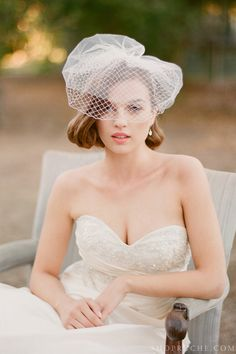 Add an air of vintage to your wedding look with a gorgeous headpiece.