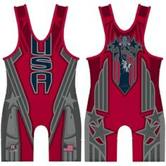 Red Patriot Wrestling Singlet - Top quality sublimated singlet, hand-made right here in the USA. Wrestling Mom, Wrestling Singlet, Wrestling Shoes, Fight Wear, Rugby League, Olympic Games, Athletic Tank Tops, Sports, Badminton