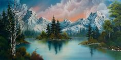 bob ross autumns glow paintings