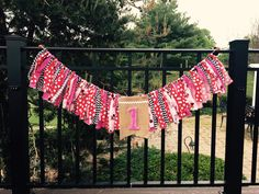 Minnie Mouse birthday fabric banner garland high chair bunting by Pattycakespapers on Etsy