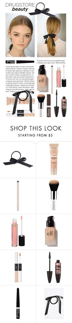 """drugstore beauty"" by fabuluz ❤ liked on Polyvore featuring beauty, L. Erickson, Maybelline, Revlon, e.l.f., Rimmel and drugstorebeauty"