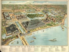 I love old maps of Chicago.  This is one of my favorites.  Chicago as it looked for the World's Columbian Exposition in 1982.