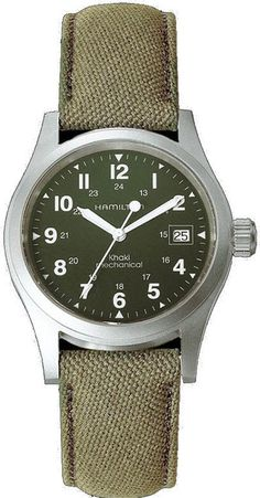 @hamiltonwfan  Watch Khaki Field Officer Mechanical #bezel-fixed #bracelet-strap-nato #brand-hamilton #case-material-steel #case-width-38mm #date-yes #delivery-timescale-7-10-days #dial-colour-green #gender-mens #luxury #movement-manual #official-stockist