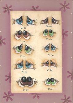 Painting Eyes   olhos de bichinhos  para pintar