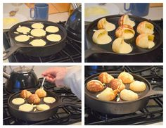 Aebleskiver (Danish Pancake Balls) just bought this pan since i'm part danish so i'm definitally learning how to make these!.. i'm not sure how this process works, looks complicated