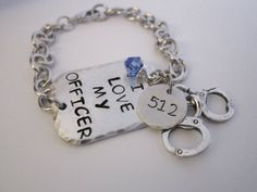 I love my officer hand stamped by ChristinesImpression on Etsy, $29.00