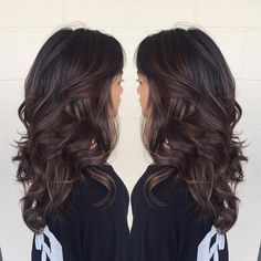 60 Chocolate Brown Hair Color Ideas for Brunettes – Balayage Hair Styles Chocolate Brown Hair Color, Chocolate Hair, Brown Hair Colors, Hair Colours, Chocolate Highlights, Chocolate Bayalage, Espresso Hair Color, Caramel Highlights, Brown Balayage