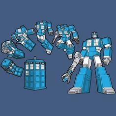 Transformer TARDIS.  I love how it has a bow tie after it's transformed.