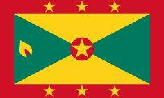 Flag of Grenada - Bandeiras da América do Norte – Wikipédia, a enciclopédia livre