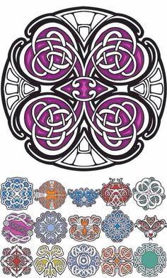Celtic knots - love 'em to pieces. Celtic Symbols, Celtic Art, Celtic Knots, Celtic Patterns, Celtic Designs, Doodles Zentangles, Tangle Patterns, Embroidery Patterns, Tatoo Henna