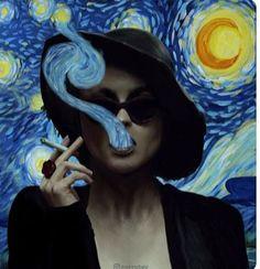 Van Gogh print Marla Singer Hat,Dizaster In A Halo,Reproduction,Great Gift, Wall Hanging Art Photomontage, Van Gogh Arte, Marla Singer, Art Hoe, Hanging Art, Surreal Art, Vincent Van Gogh, Aesthetic Art, Collage Art