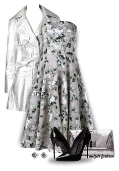 Floral: Silver by outfitsfashion4 on Polyvore featuring moda, Alexander McQueen, John Galliano, Dolce&Gabbana, Diane Von Furstenberg and Bling Jewelry