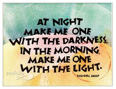 At Night, Wendell Berry