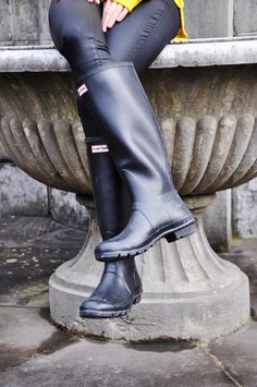 Yellow_Bild10_800px Wellies Rain Boots, Hunter Rain Boots, High Heel Boots, Shoe Boots, Shoes, Hunter Outfit, Rain Wear, Riding Boots, Hunters