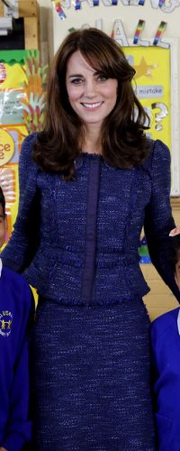 7 Feb 2016 - Duchess of Cambridge delivers prerecorded video message for Place2Be.
