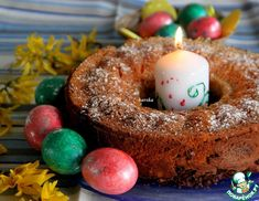 Рецепт: Румынская пасхальная выпечка Коцонак Doughnut, Desserts, Recipes, Food, Tailgate Desserts, Deserts, Meals, Dessert, Eten