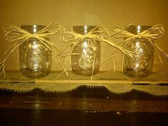 3 Pint Size Jars with Beautiful Country Rustic by CountryBarnBabe, $9.00
