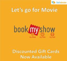 #ThusdayThought ! Wanna watch a Movie, Buy discounted #GiftCards of #BookMyShow from #SELLEBRATE ! Enjoy your Movie