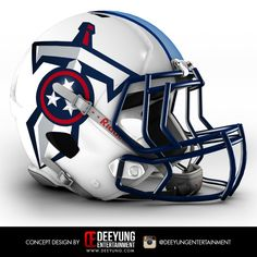 NFL Tennessee Titans Concept Helmets Deeyung Entertainment took this a step further by creating new helmets for all 32 teams. The designs are futuristic, and some of them very cool -- but old school fans won't be pleased Más Cool Football Helmets, Sports Helmet, College Football Teams, Football Uniforms, Football And Basketball, Football Stuff, Sports Uniforms, Football Players, Titan Helmet
