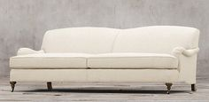 Sofas | Restoration Hardware--Barclay Collection 6 lengths, 2 depths, 93 fabrics Shown in natural Belgian Linen sofas starting at $2895