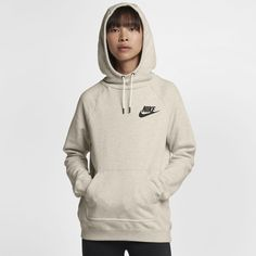 Nike Sportswear Rally Women's Fleece Hoodie Size Medium (Cream)