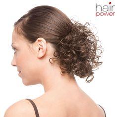 """Zopf-Haarteil """"Angel"""" von hairpower - lockiges Haarteil zum Verdichten und Füllen. Ultraleicht, in fantastischer Locken-Optik. Größe ca. 8x10cm. Haarlänge ca. 15cm. Ideal, um romantische Hochsteckfrisuren zu zaubern oder mehr Lockenfülle in die Frisur zu bringen. Die eigenen Haare werden nicht wie bei permanenten Bondings oder Weavings beschädigt! Die Kunsthaarfaser behält auch nach dem Waschen die Frisur bei, ist äußerst pflegeleicht und bringt brillante Farben perfekt zur Geltung."""