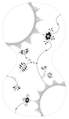 Billedresultat for mega mussel art Copenhagen Design, Royal Copenhagen, Blue Willow China, Diy And Crafts, Arts And Crafts, Blue Pottery, Quilt Stitching, China Painting, Stencil Art