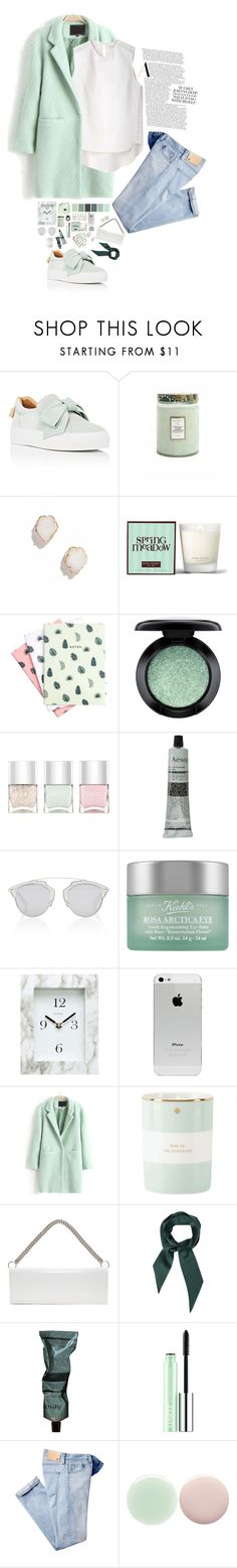 """MintXWhite"" by viccc10 ❤ liked on Polyvore featuring BUSCEMI, Voluspa, Kendra Scott, Henri Bendel, Hadron Epoch, MAC Cosmetics, Nails Inc., Aesop, Christian Dior and Kiehl's"