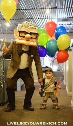 How To Make a Mr. Fredricksen& Russell costumes from the Movie UP.- Would work for multiple different kinds of character costumes. Pinned over 7,000 times!  #LiveLikeYouAreRich