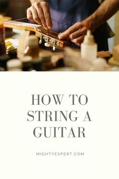 How to String a Guitar: Detailed Step-by-Step Video Guide Guitar Lessons For Kids, Cool Electric Guitars, Beautiful Guitars, Vintage Guitars, Swat, Playing Guitar, Acoustic Guitar, Lyrics, Songs